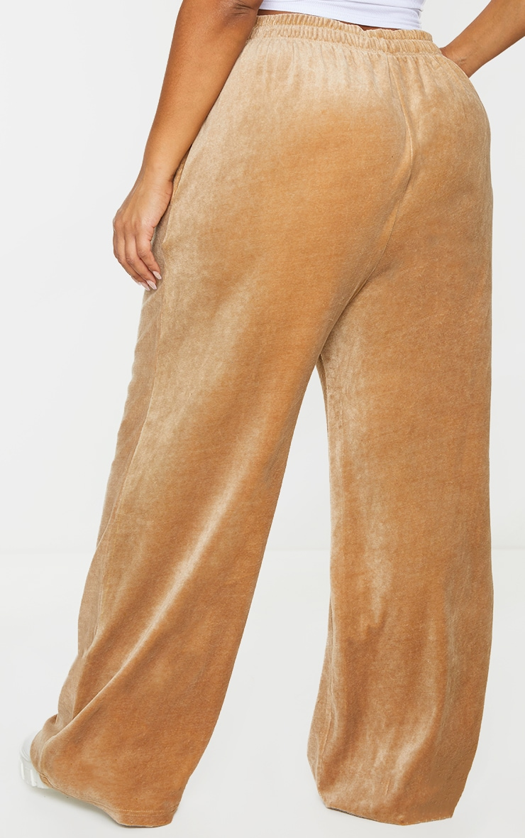 Plus Stone Towelling Wide Leg Joggers 3