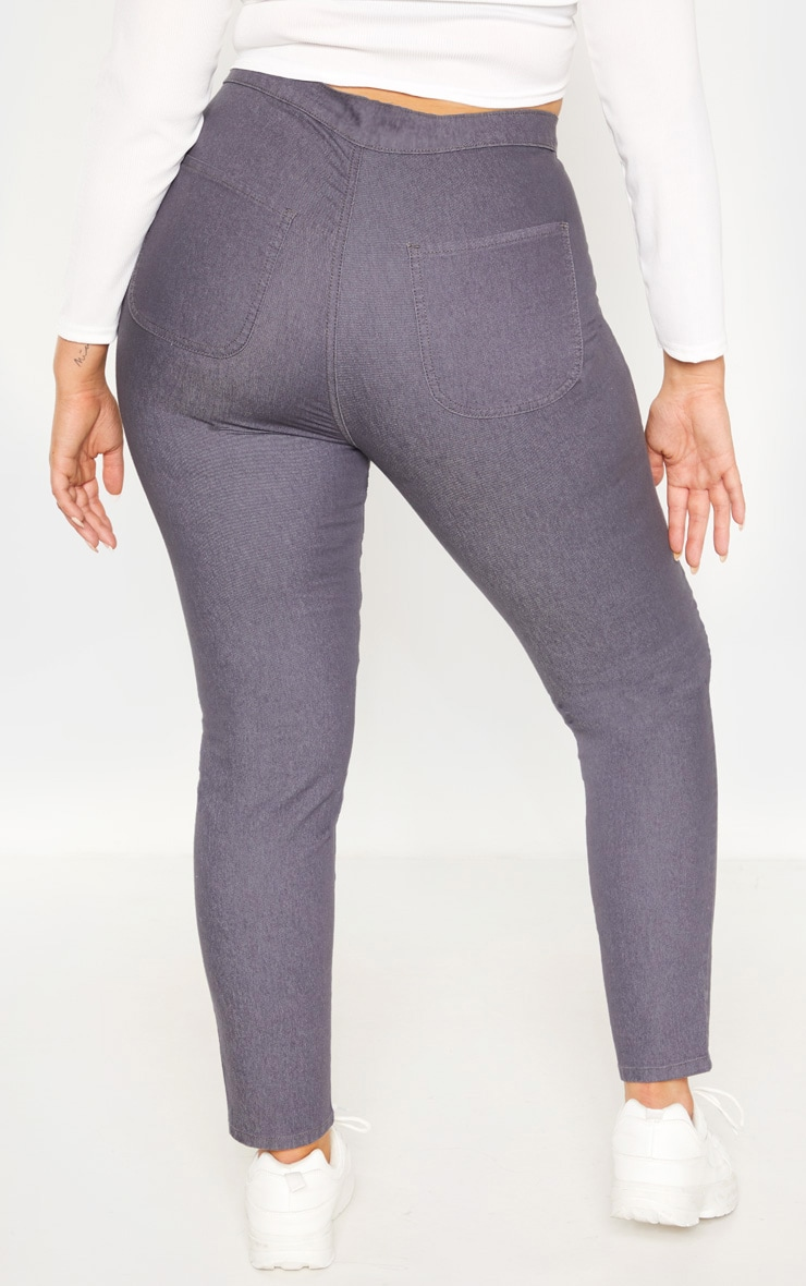 Plus Charcoal Stretch Jegging 4