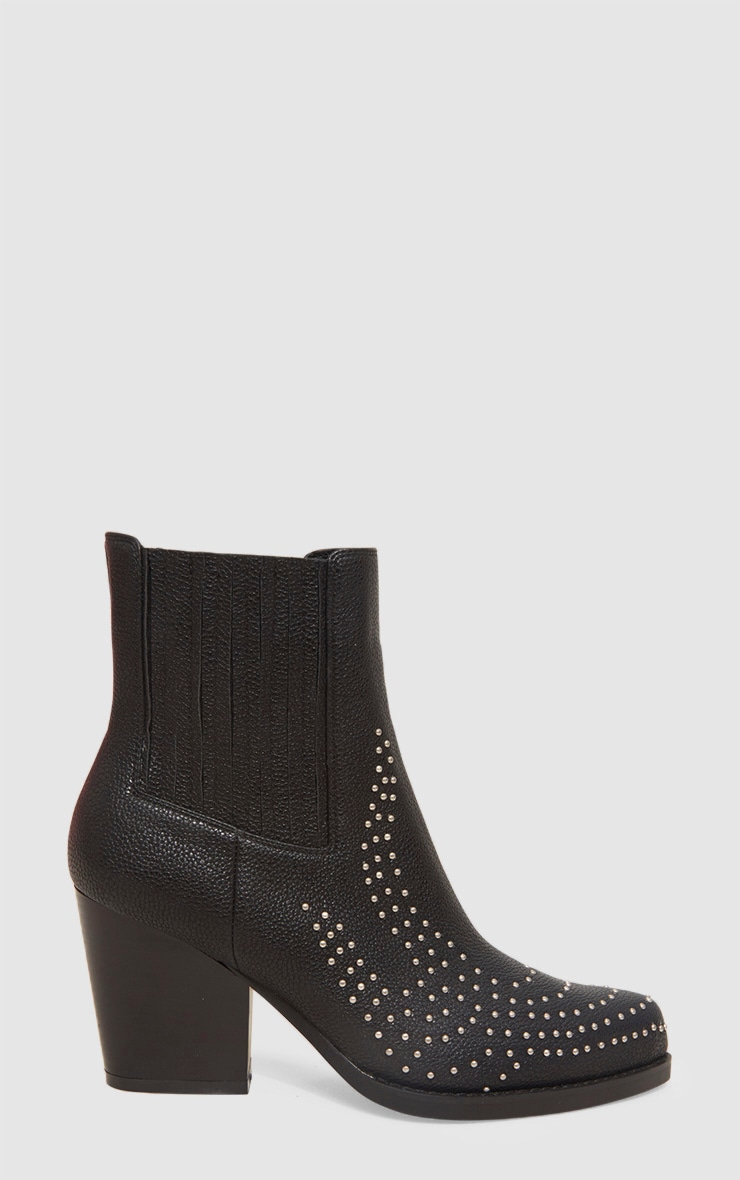 Black Studded Western Boot 3