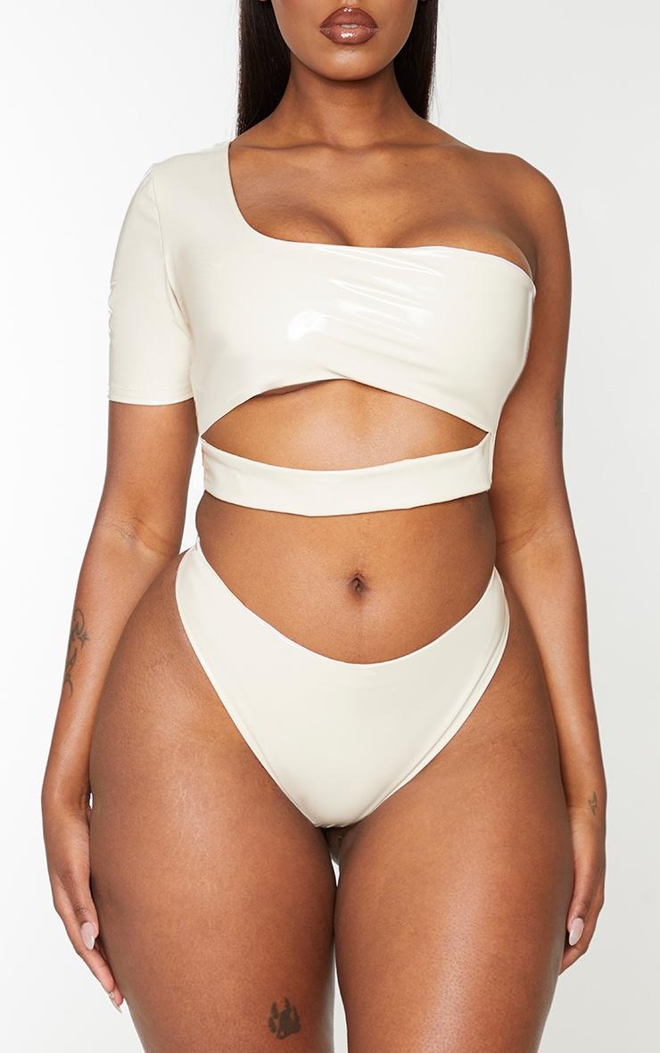 Shape Nude Vinyl Front Bikini Bottoms 1