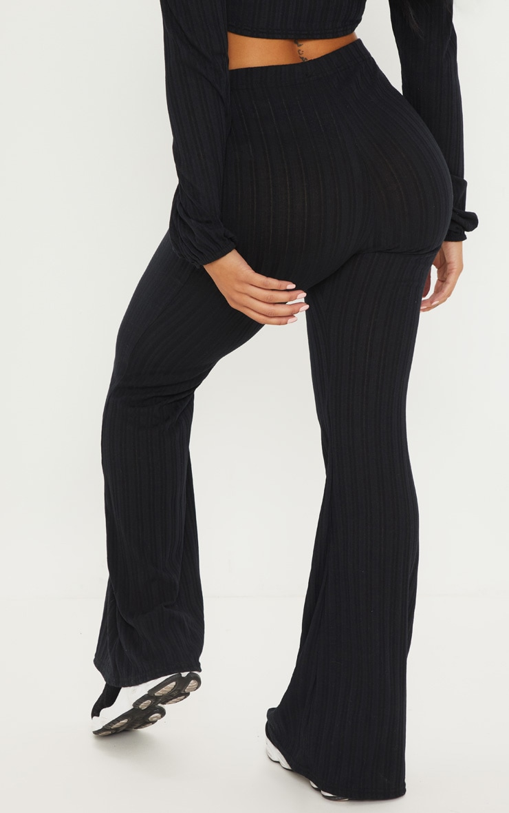 Petite Black Flared Trousers 3