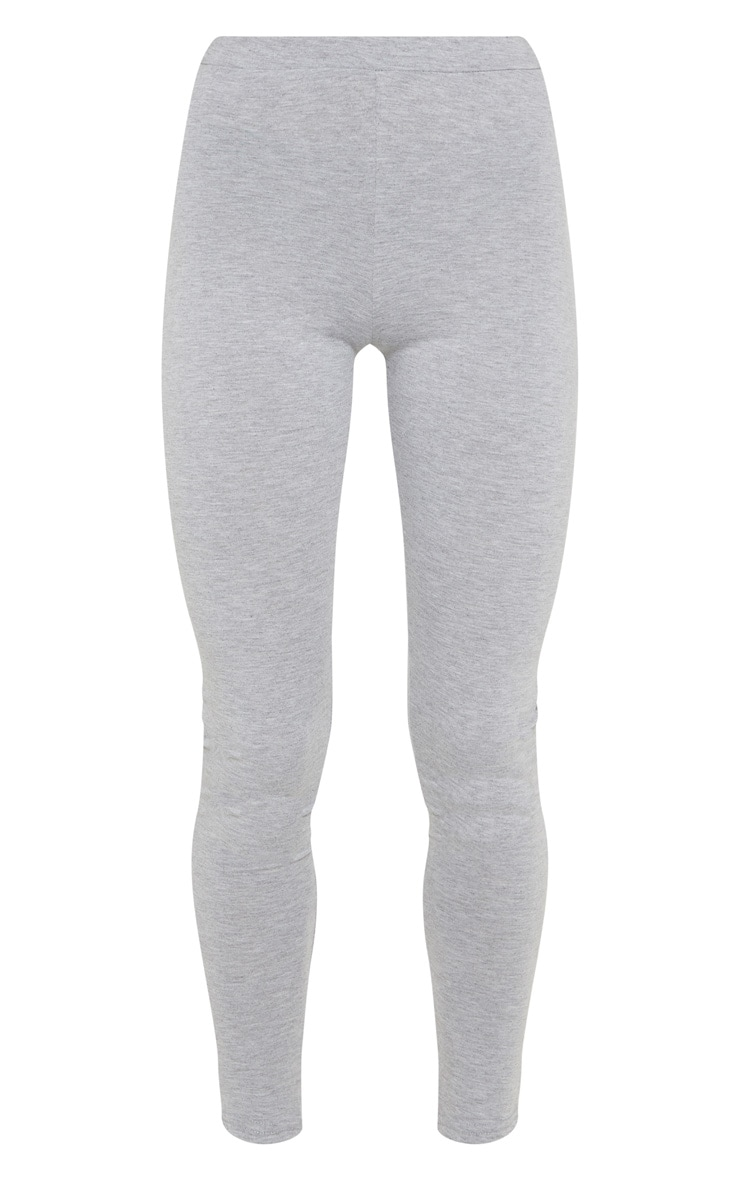 Grey Marl Ruched Back Jersey Legging 3