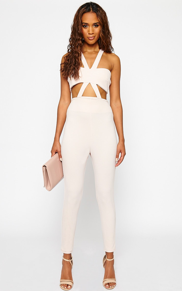 Tetty Nude Crepe Jumpsuit 1