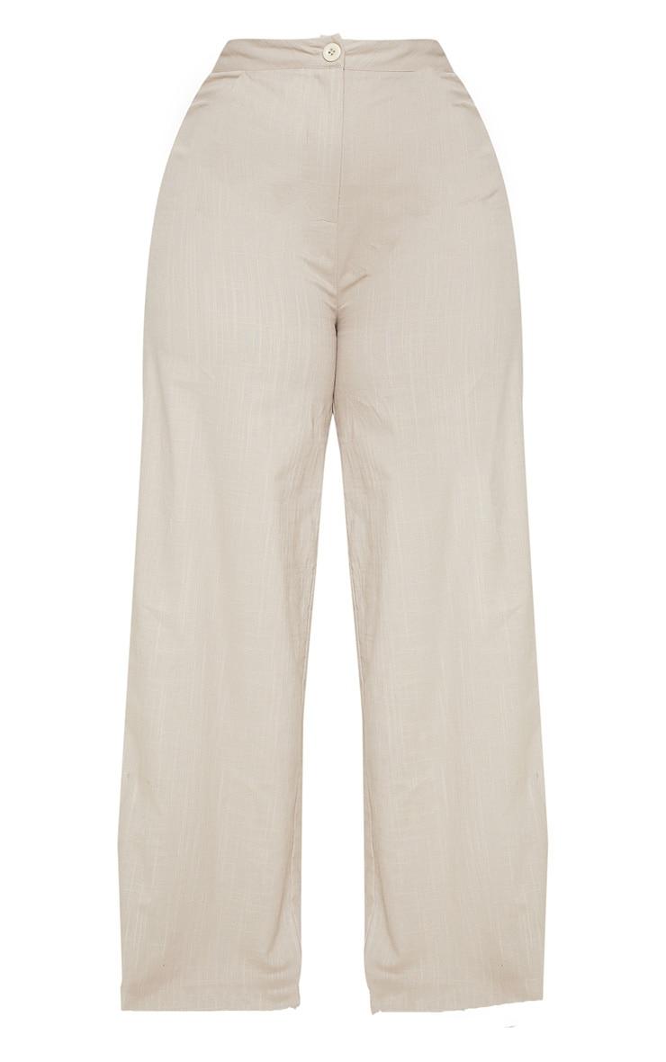 Plus Stone Woven Wide Leg Trouser 3