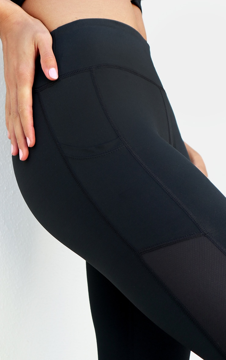 Black Side Pocket Cropped Legging 4