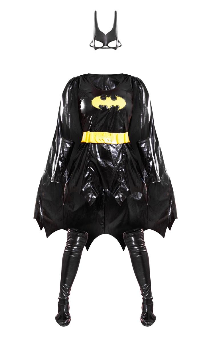 Black Batgirl Fancy Dress Costume 3