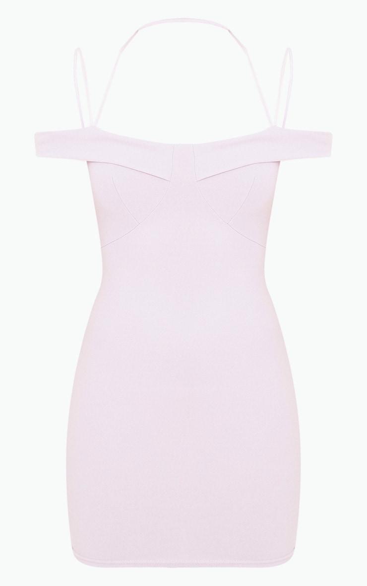 Lilac Strap Detail Bodycon Dress 3