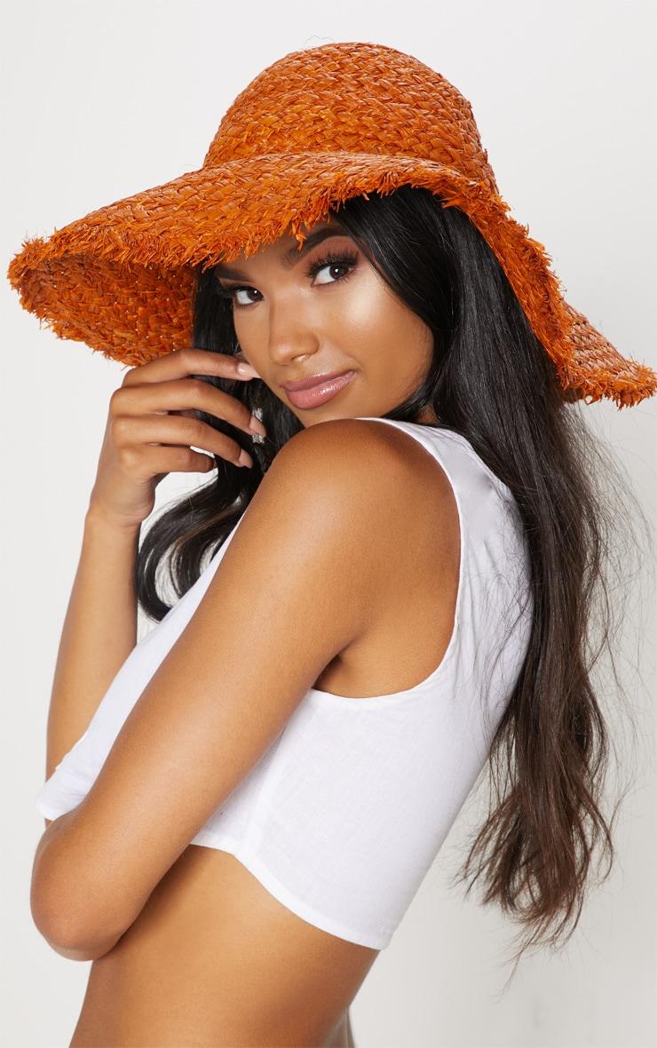 Tan Straw Floppy Hat