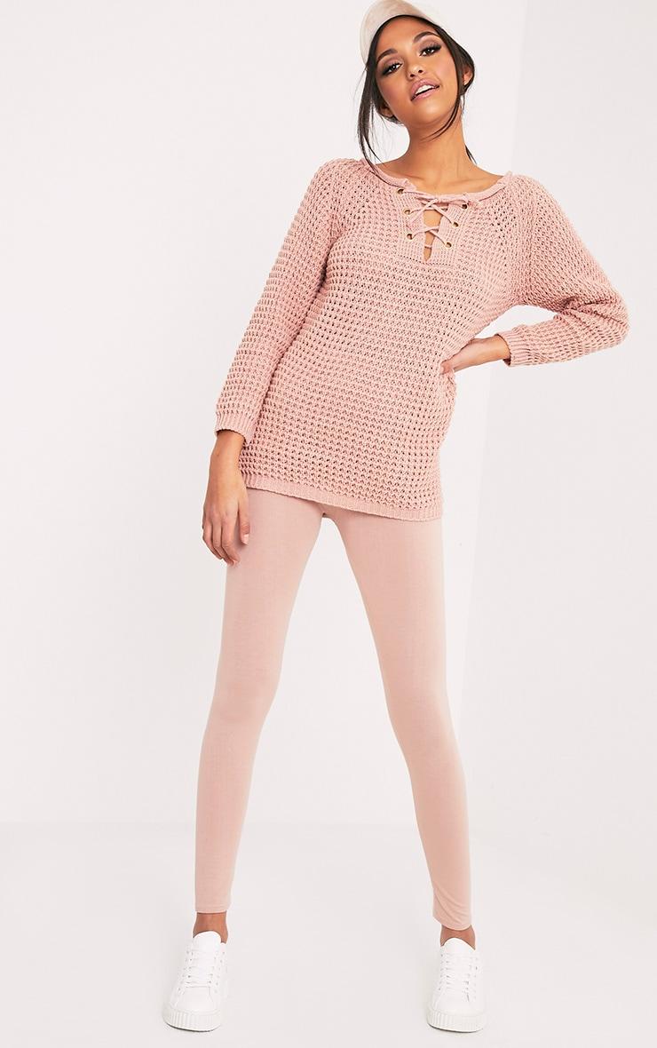 Haidyn Blush Lace Up Knitted Jumper 5