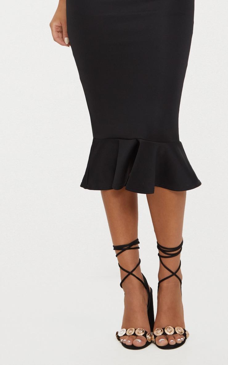Isabella Black Bandeau Frill Hem Midaxi Dress 5