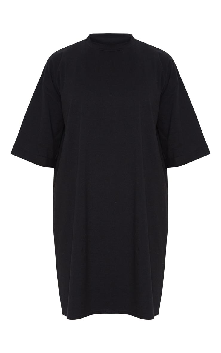 Black Boyfriend Oversized T Shirt Dress 3