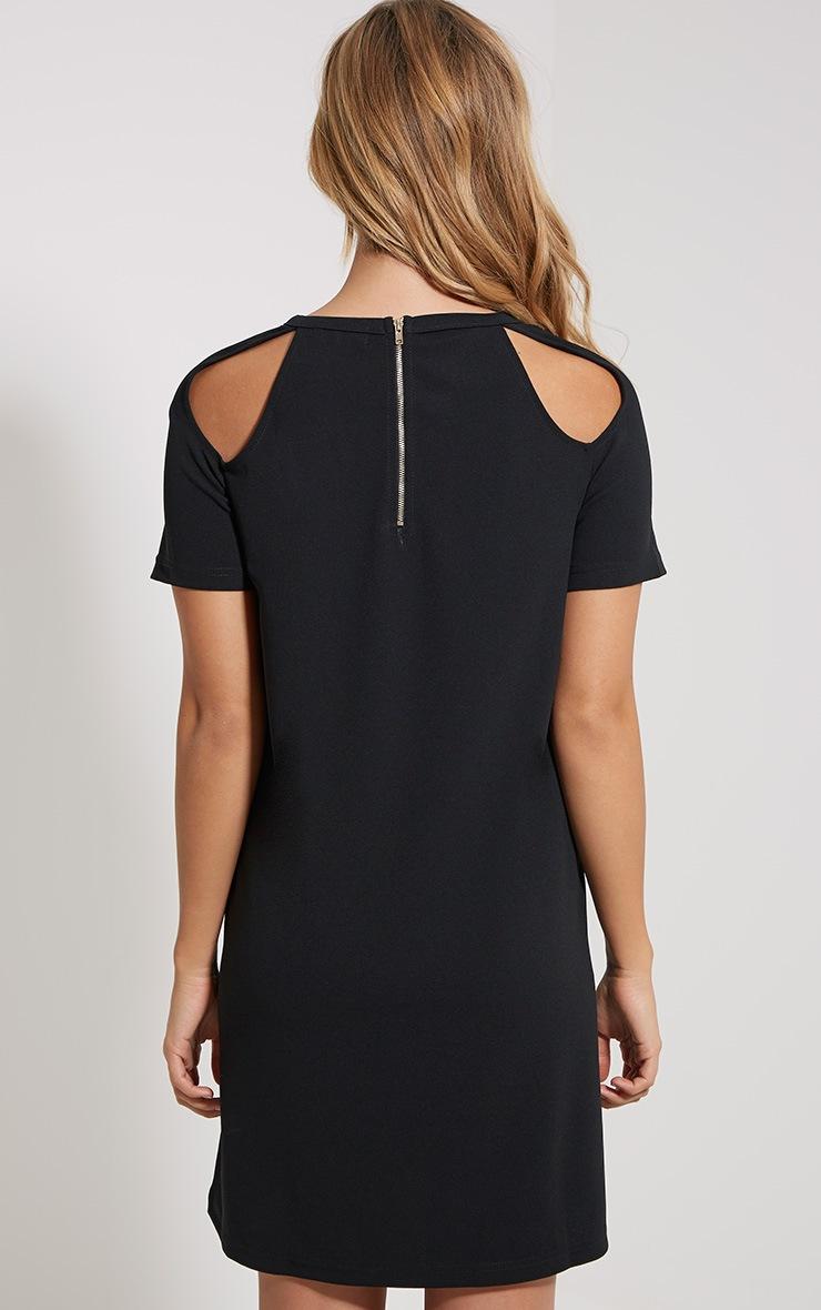 Sandie Black Cold Shoulder Shift Dress 2