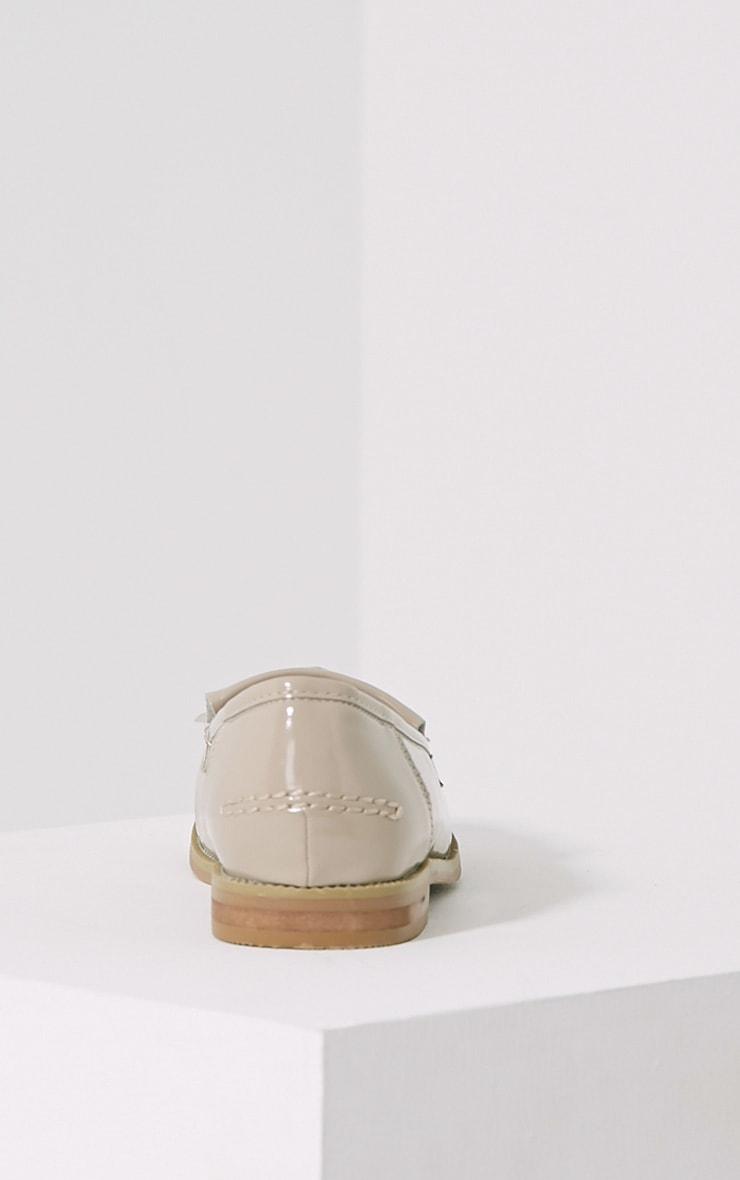Trella Nude Patent Loafers 5