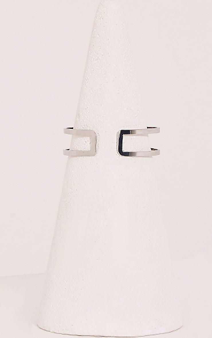 Danah Silver Cut Out Upper Arm Cuff 4