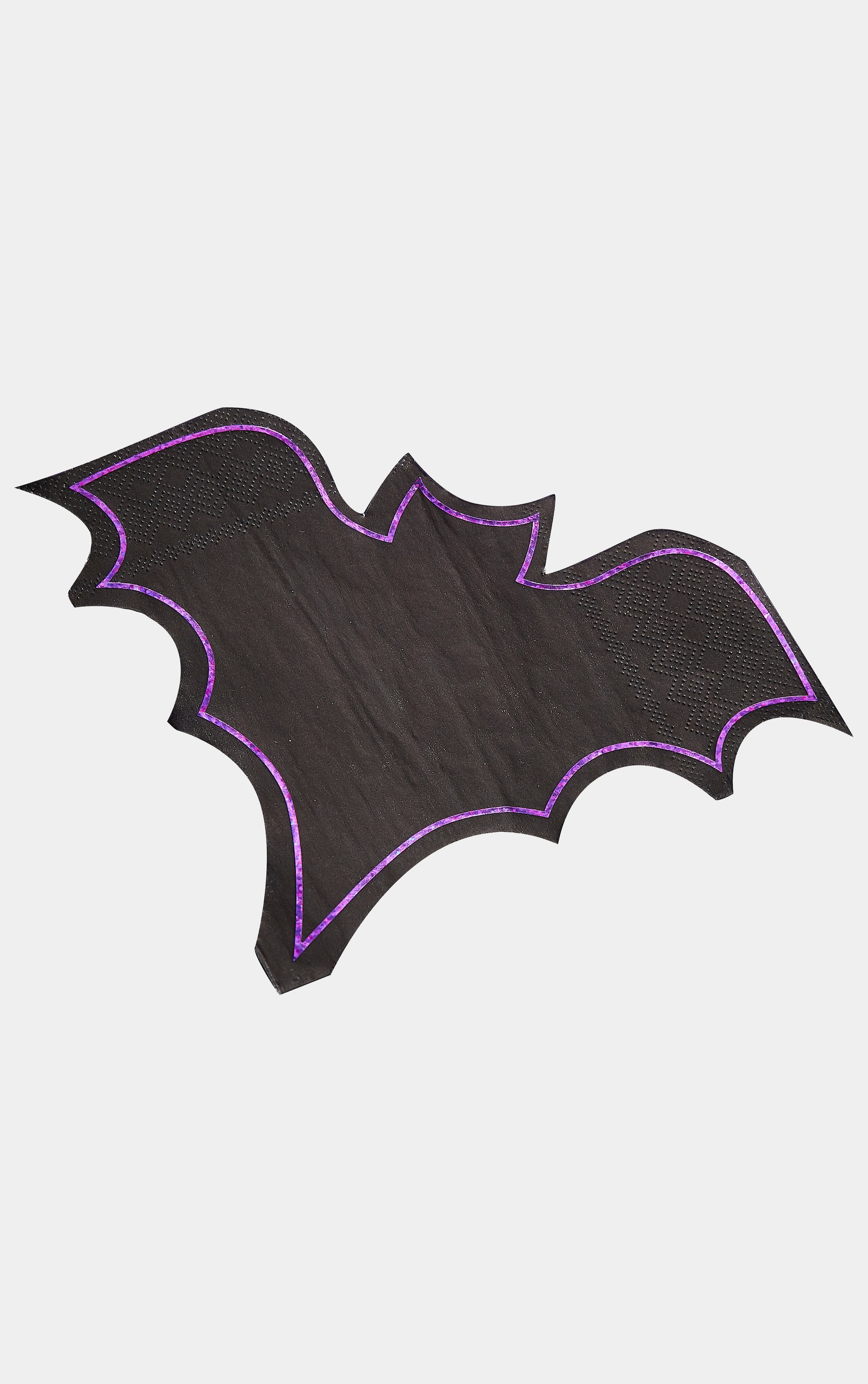 Ginger Ray Paper Napkins Bat Shaped Purple Foil 2