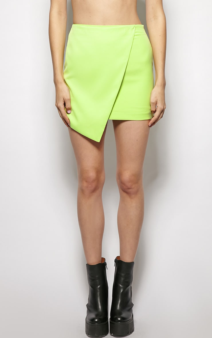Leona Lime Asymmetric skirt 3