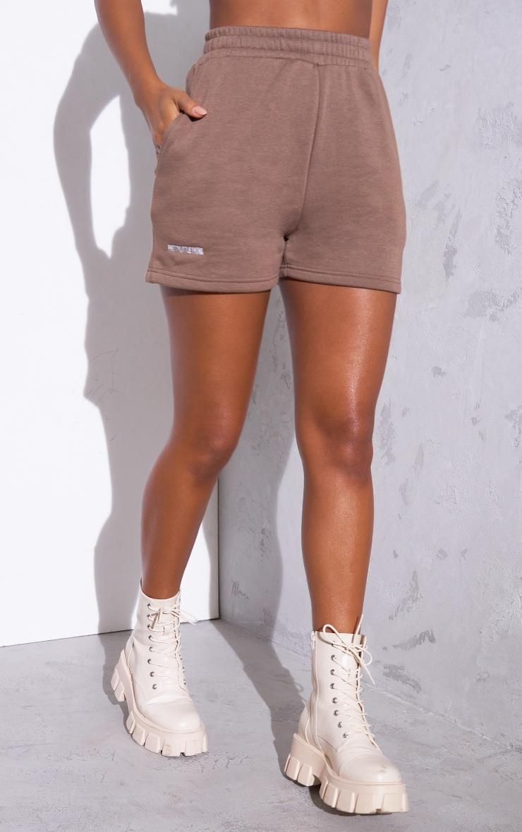 RENEW PRETTYLITTLETHING Chocolate Sweat Pocket Shorts 2