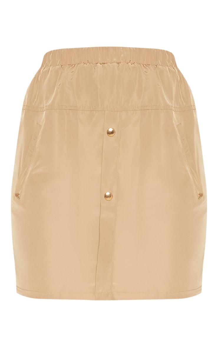 Camel Shell Suit Mini Skirt  3