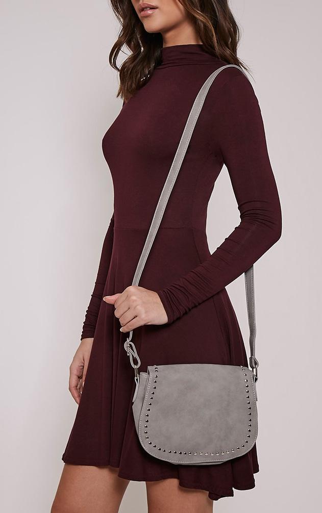 Dusti Grey Studded Shoulder Bag 2