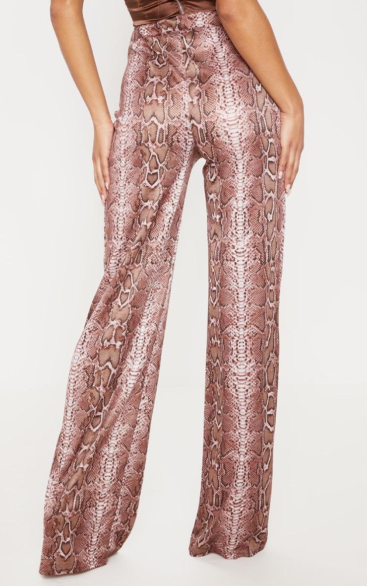 Camel Snake Printed Wide Leg Trouser 4