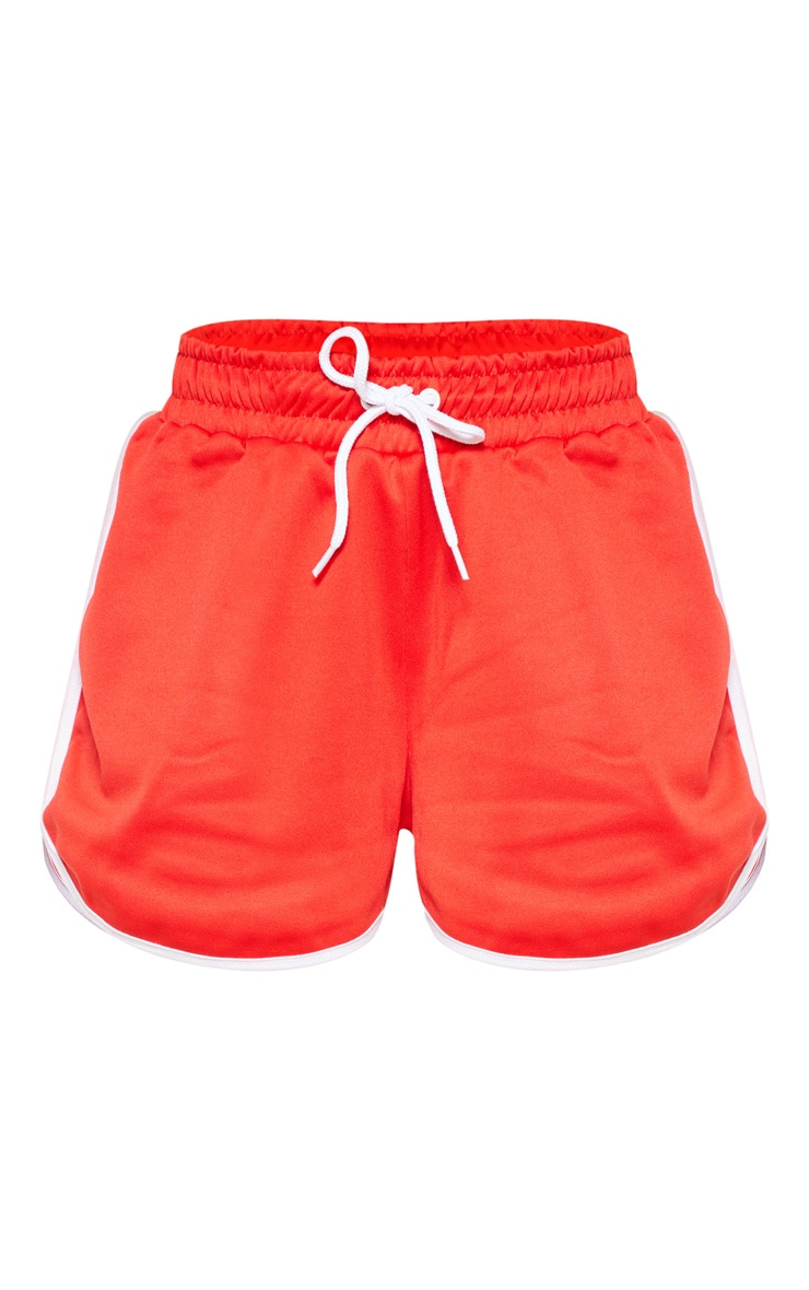 Red Contrast Seam Runner Short 3