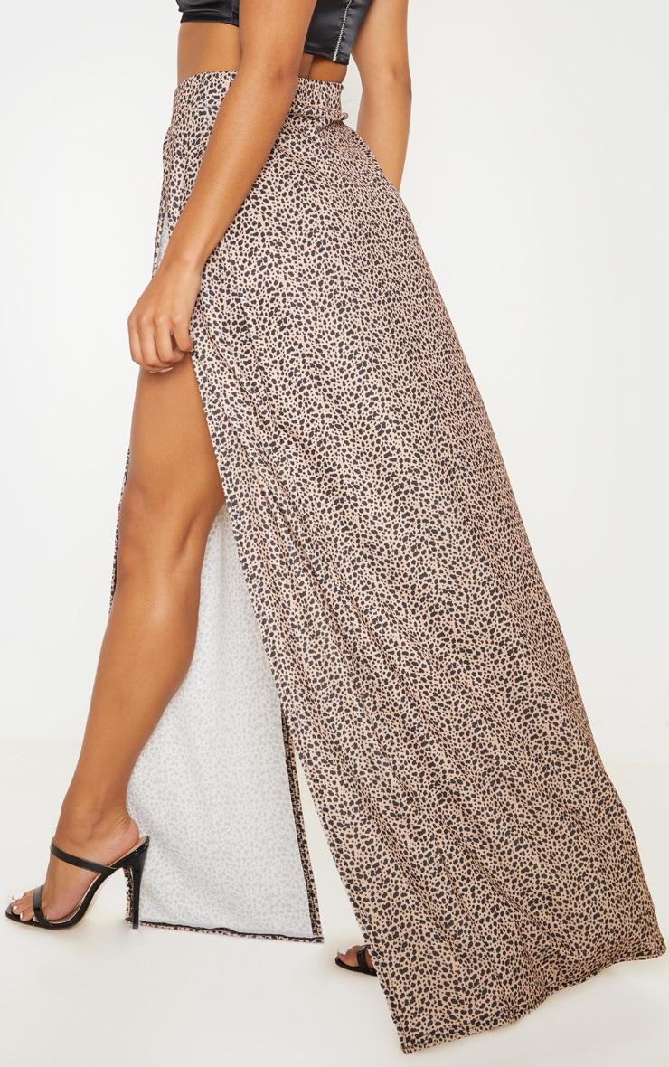Leopard Print Double Split Maxi Skirt 4