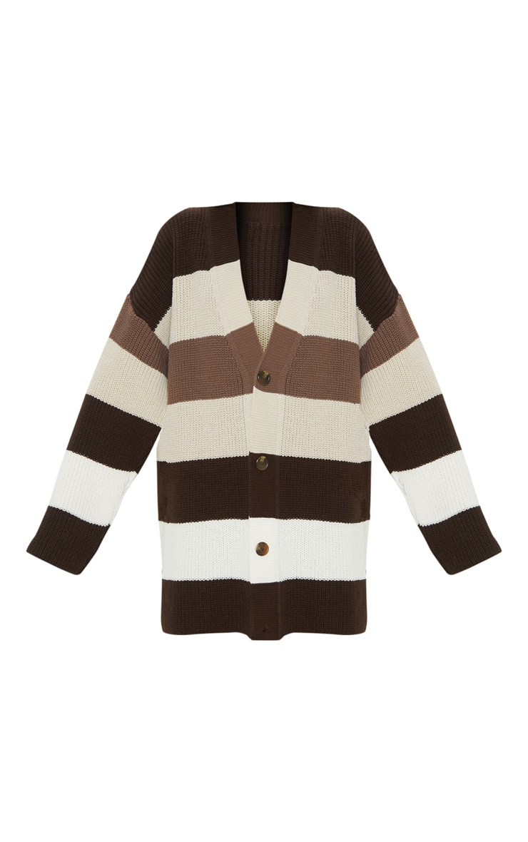 Stone Striped Knitted Cardigan  3