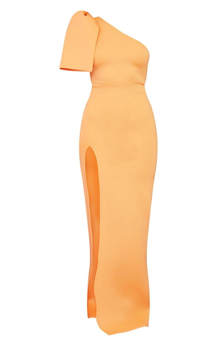 Tangerine Scuba Bow Shoulder Maxi Dress 5