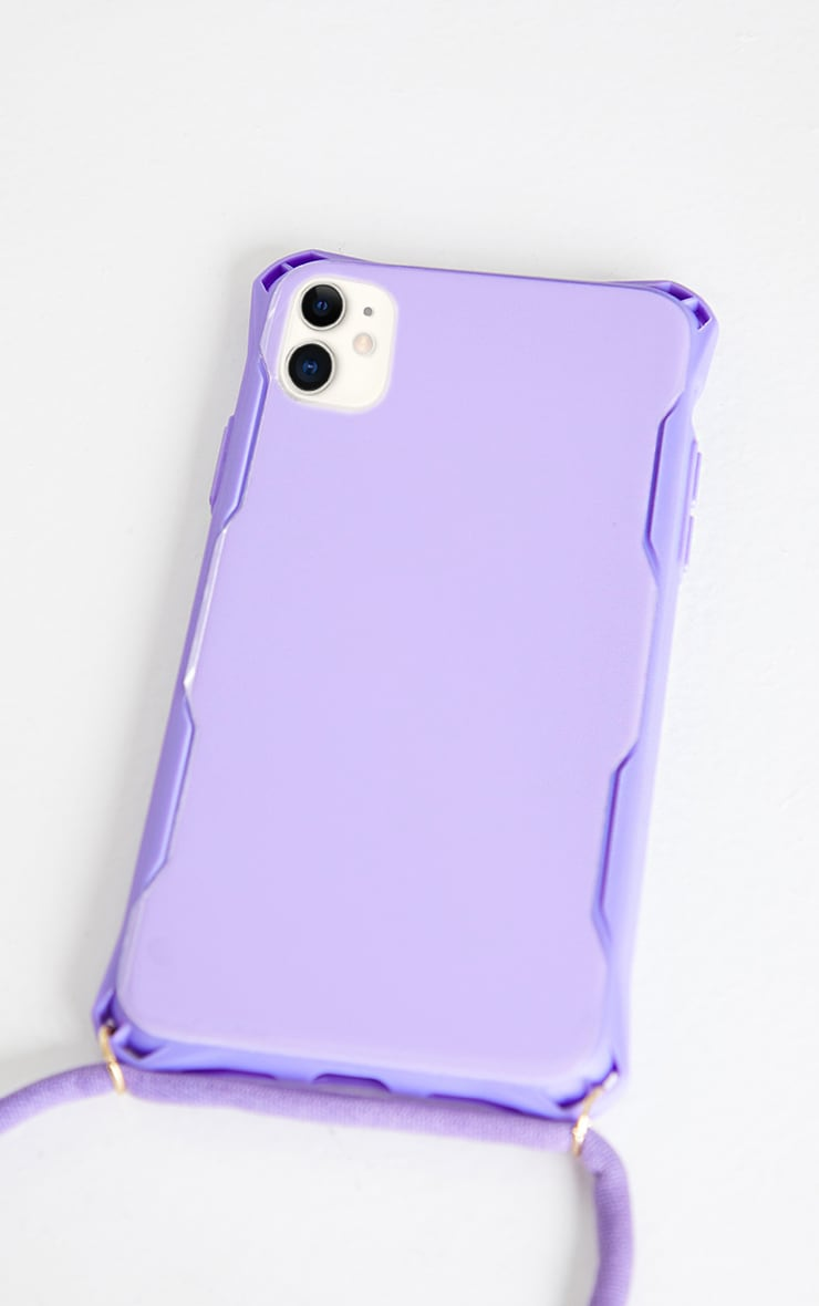 Lilac Iphone 11 Phone Case With Cross Body Strap 3