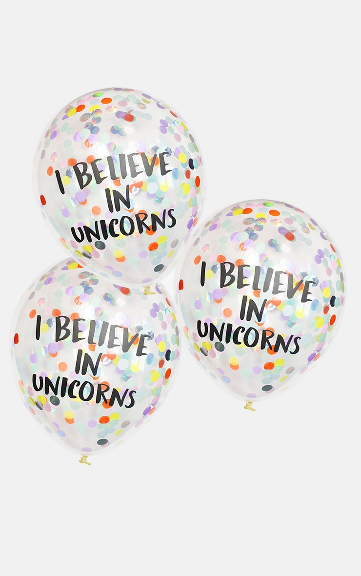 Ginger Ray I Believe In Unicorns Confetti Balloons 2
