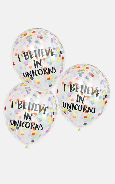 Ginger Ray I Believe In Unicorns Confetti Balloons