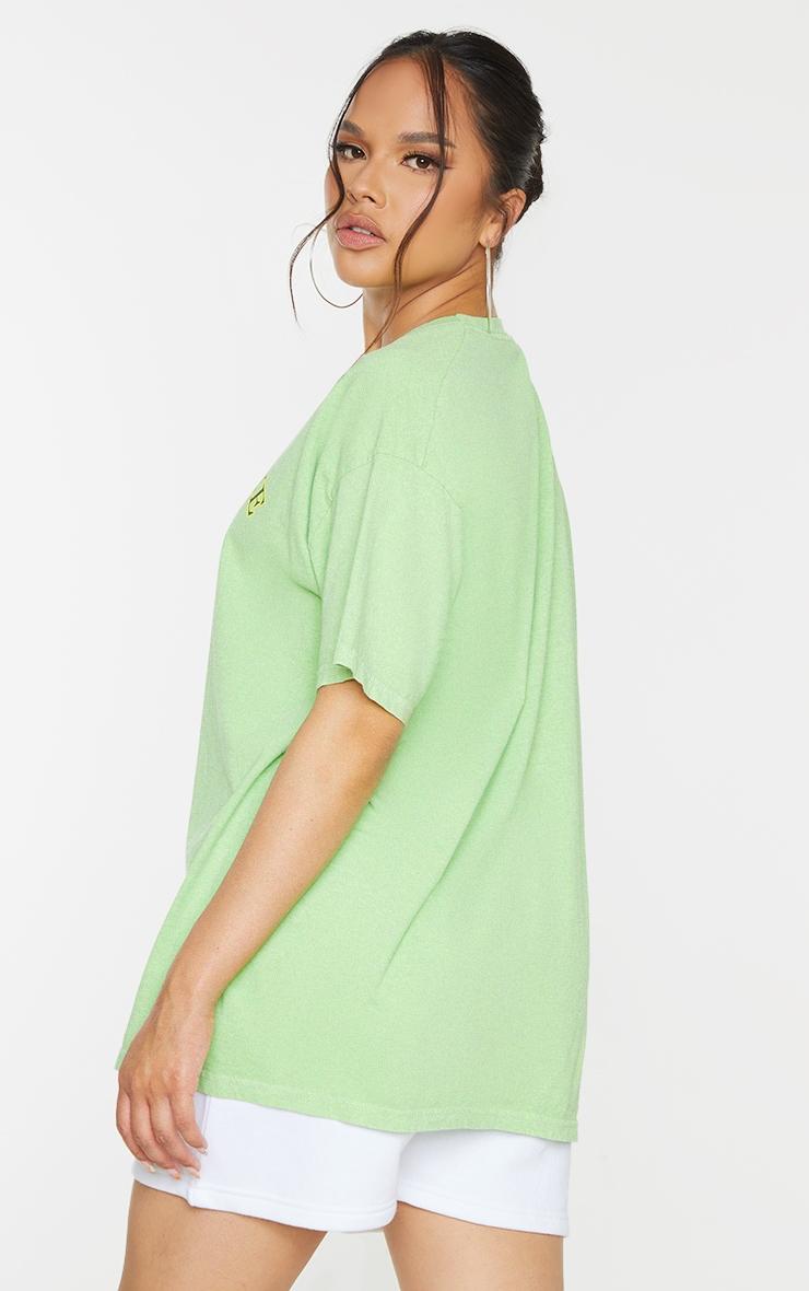 Green Yellowstone Print Washed T Shirt 2
