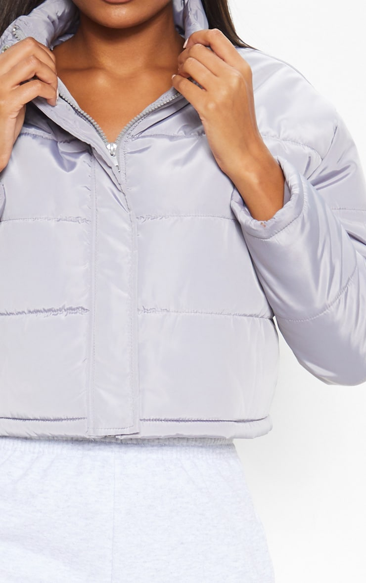 Grey Super Cropped Puffer 5