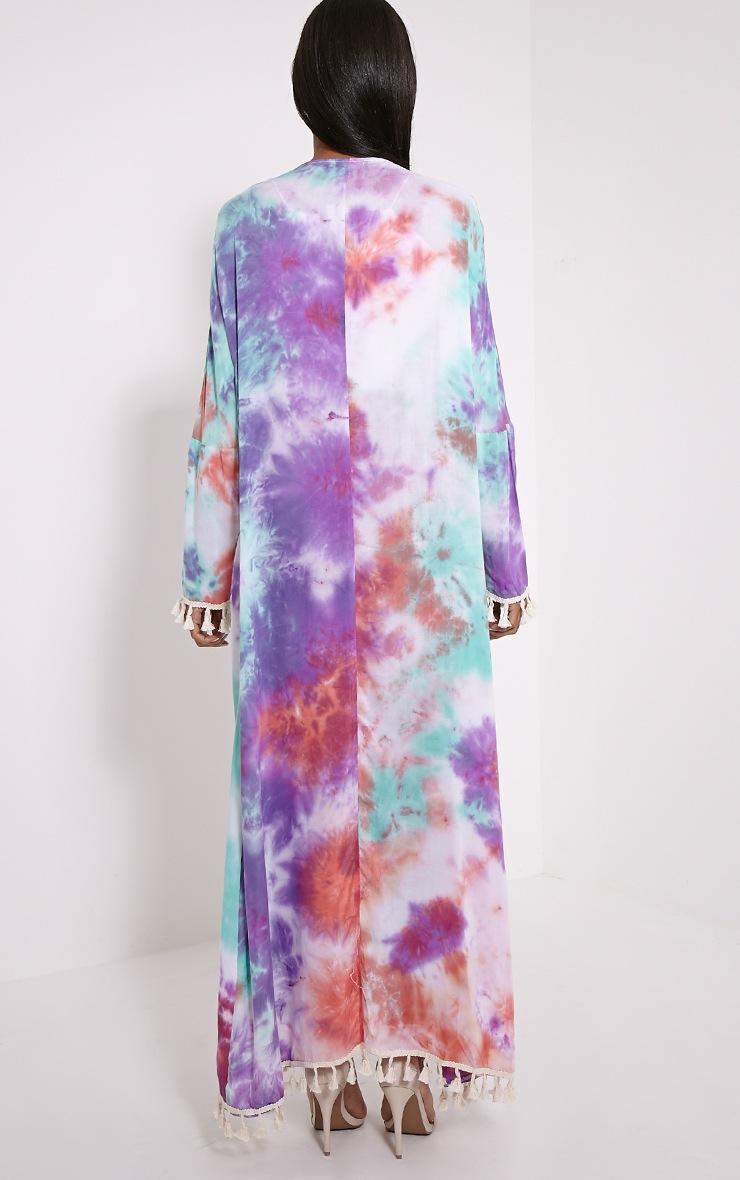 Amber Purple Tie Dye Maxi Kimono 2