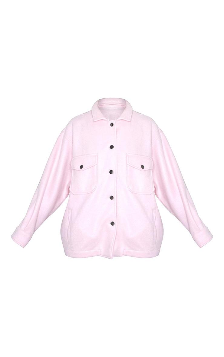 Pink Pocket Front Shacket 5