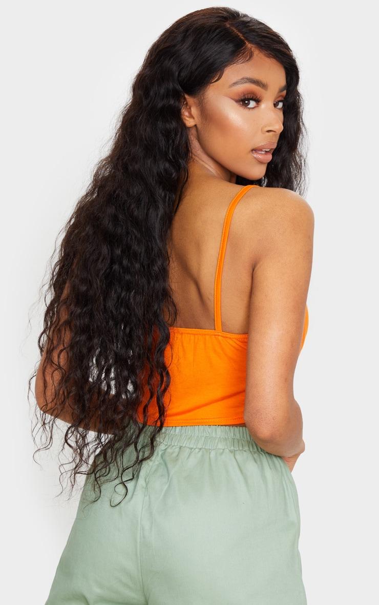 Orange Strappy Jersey Crop Top 3