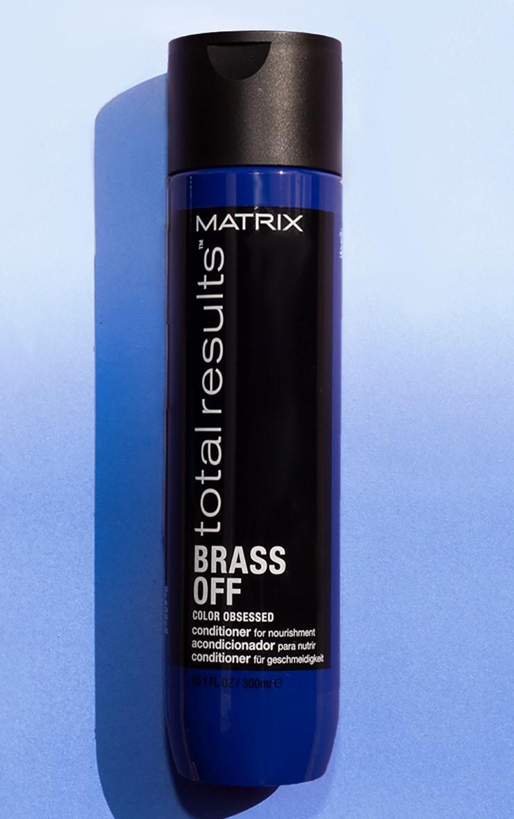 Matrix Total Results Brass Off Neutralizing Conditioner Lightened Brunette Hair 300ml 1