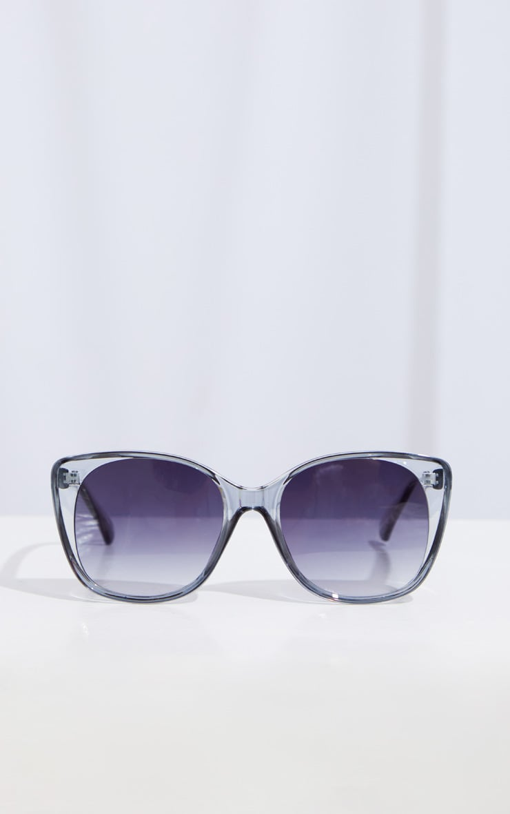 Grey Clear Cat Eye Sunglasses 2