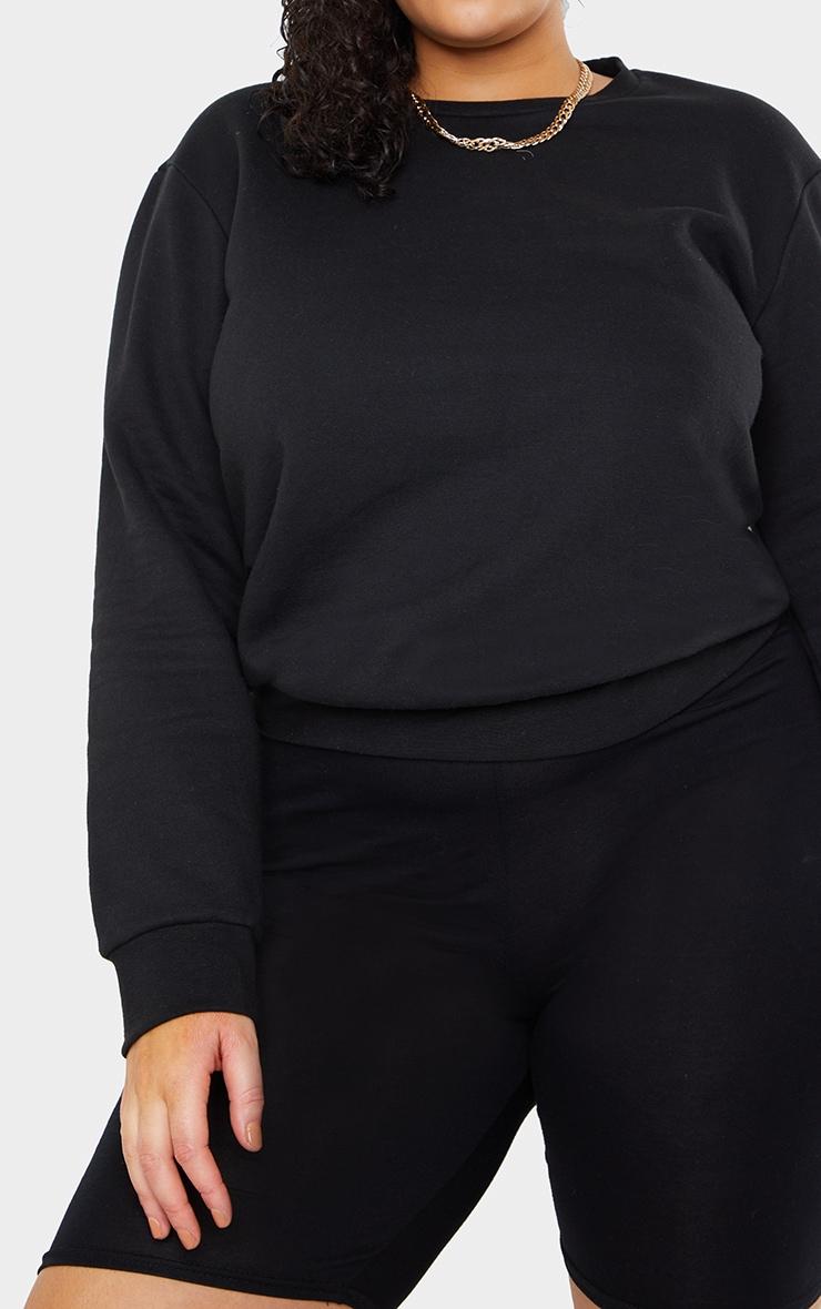 Plus Basic Black Sweater 4