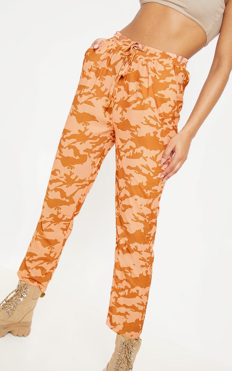 Burnt Orange Camo Print Cigarette Trouser 5
