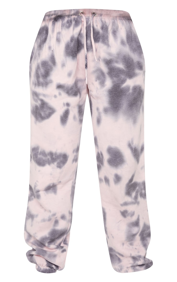 Light Pink Tie Dye High Waist Joggers 5