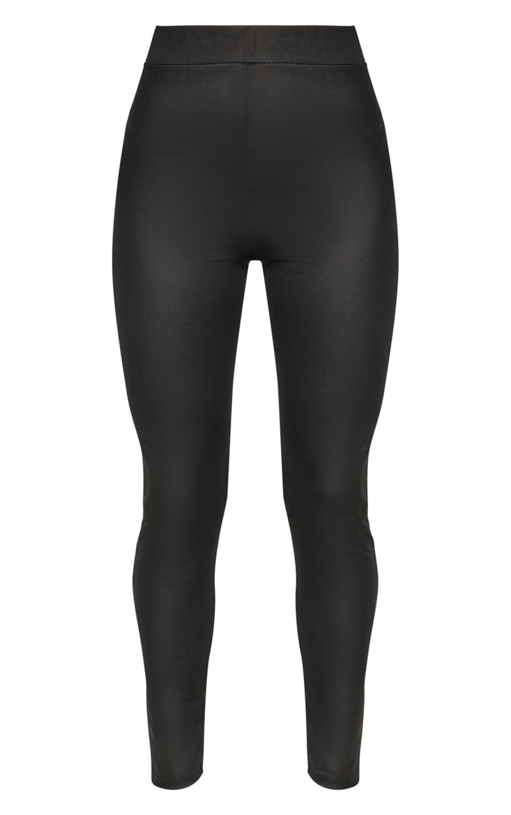 Black Scuba Wet Look Legging 3