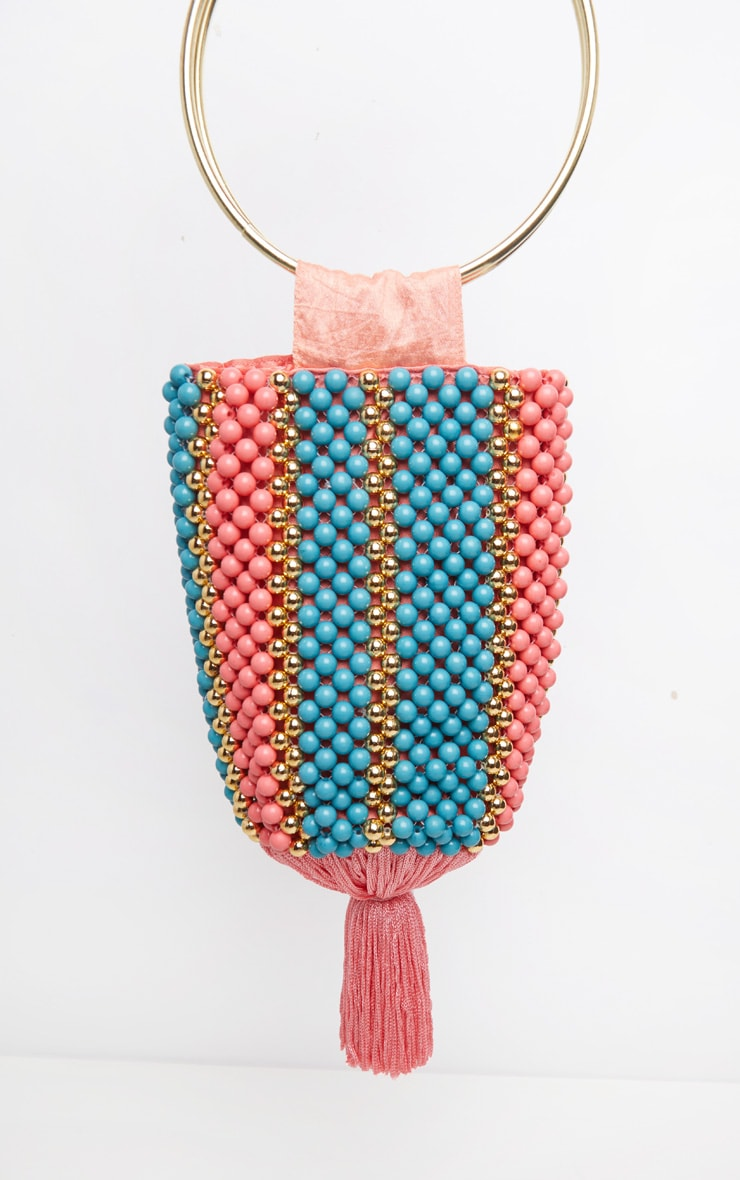 Turquoise And Coral Beaded Tassel Ring Grab Bag 2