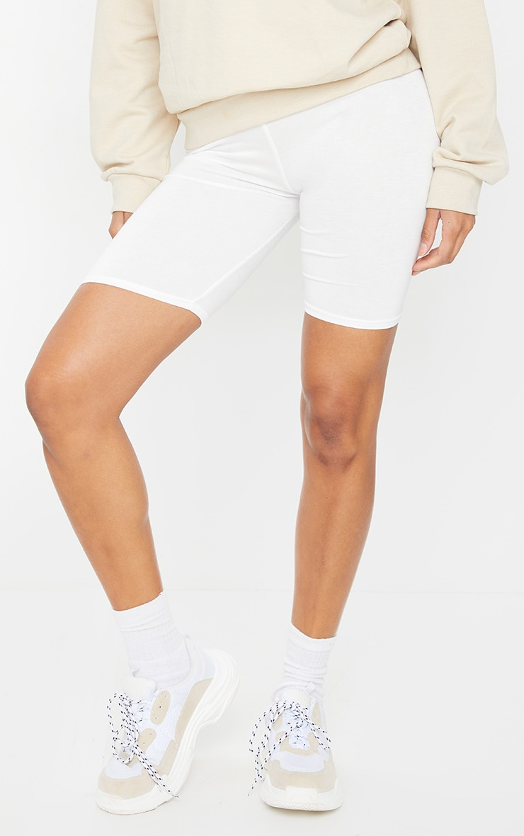 Cream Basic Bike Short 2