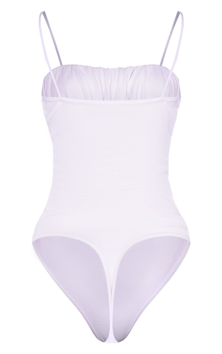 Lilac Ruched Bust Sleeveless Bodysuit 4
