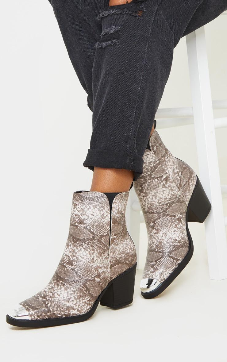 Snake Wide Fit Metal Toe Western Boot 2