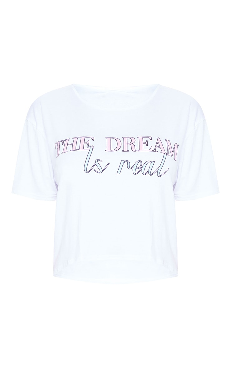 Pink The Dream Is Real Shorts PJ Set 5