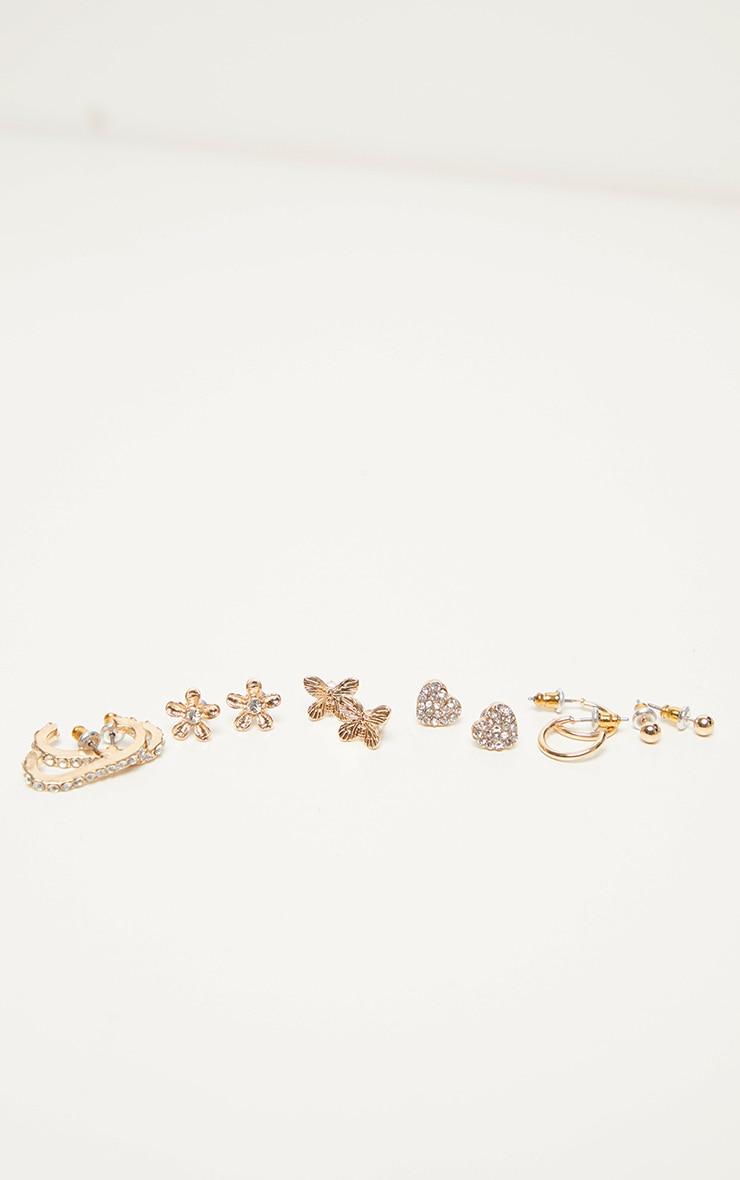 Gold Multi Pack Assorted Earrings 1