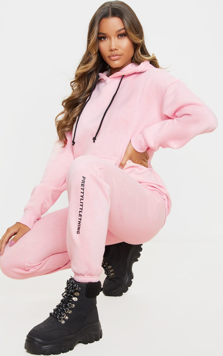 PRETTYLITTLETHING Light Pink High Waisted Jogger 1