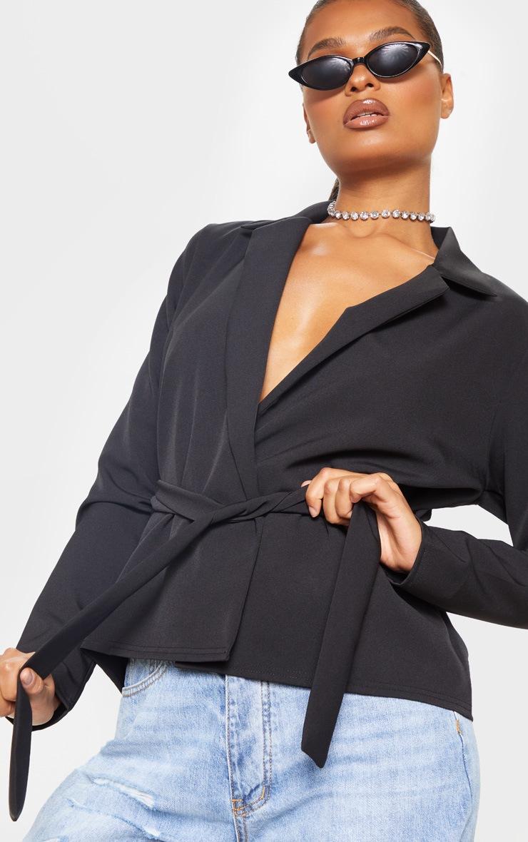 Black Belted Detail Blazer 5